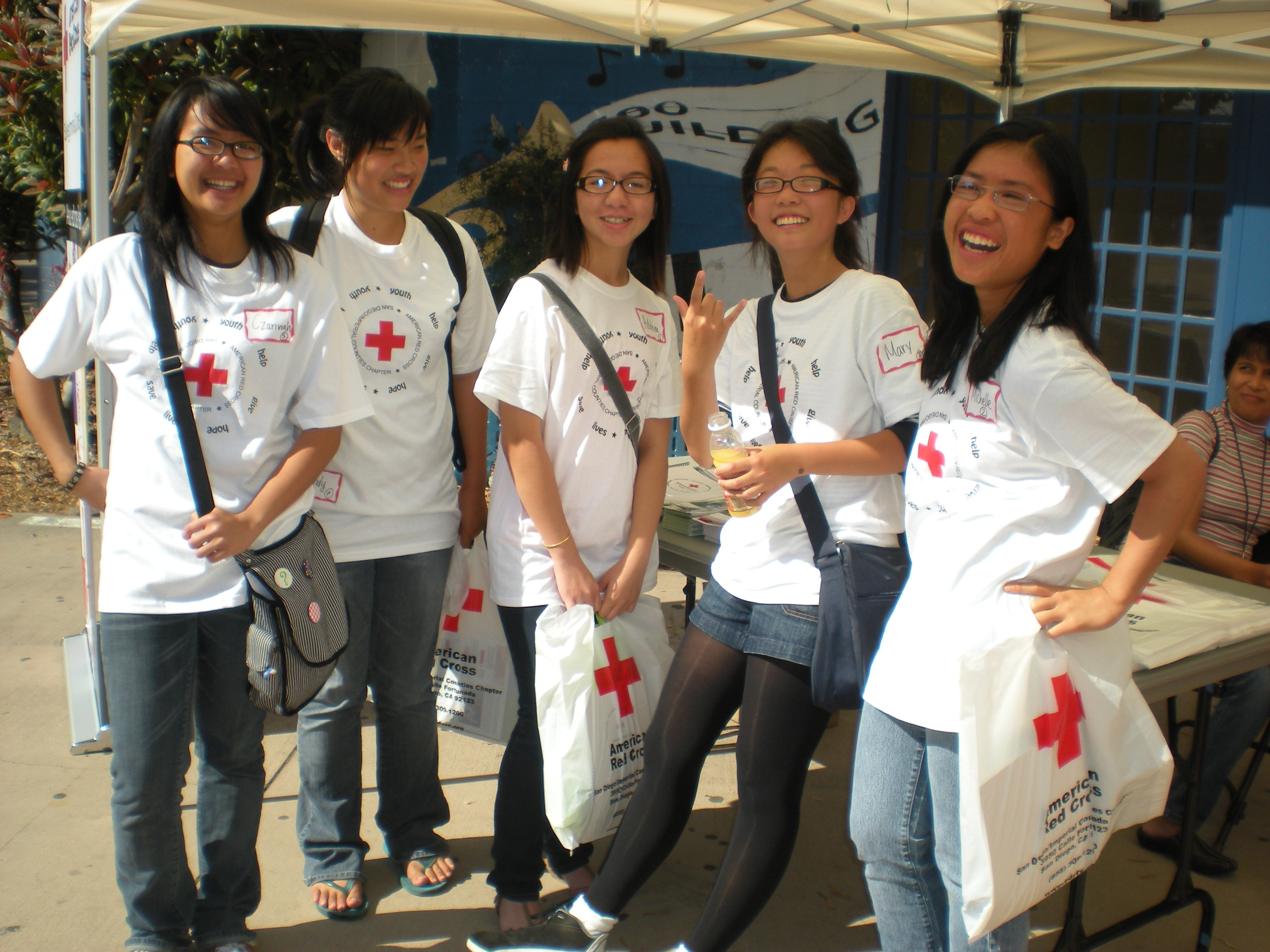 Youth Volunteers at the Youth Disaster Camp